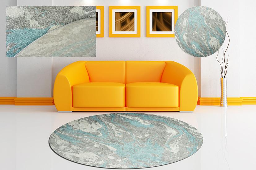Thảm sofa tròn thương hiệu 3HRugs nhập khẩu châu Âu